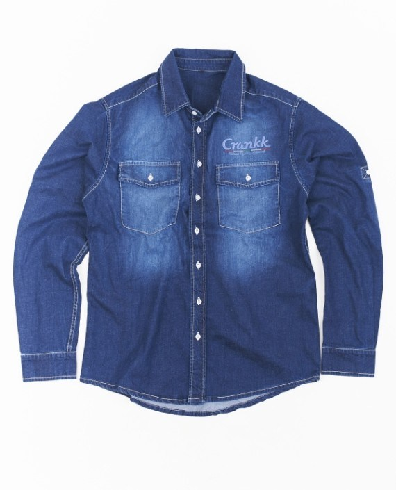 RENNER Denim Shirt Dark Blue – For Him