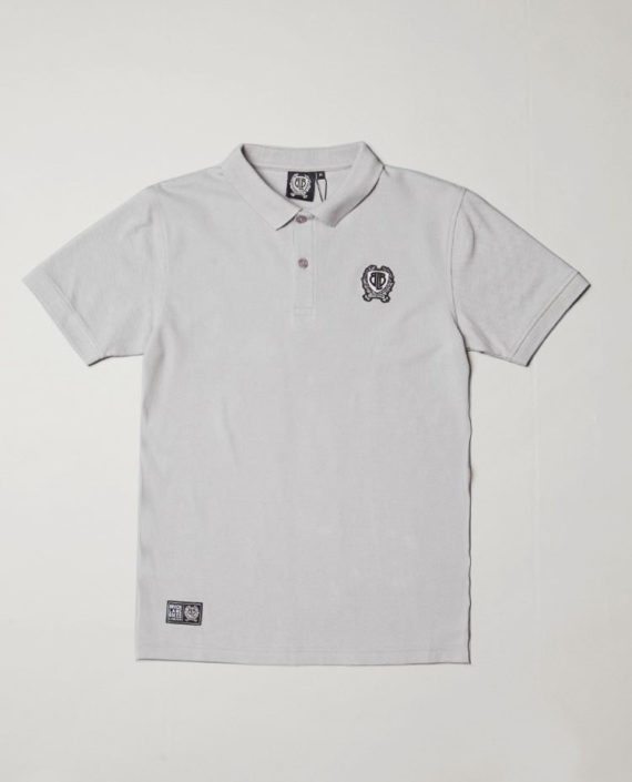 BLB SMALL BADGE Polo Shirt Grey – For Him