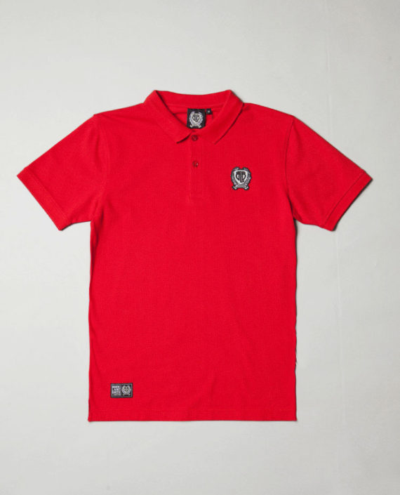 BLB SMALL BADGE Polo Shirt Red – For Him