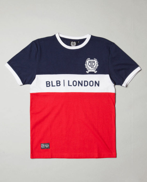 BLB CUT & SEW T-Shirt Red/Wht/Navy – For Him