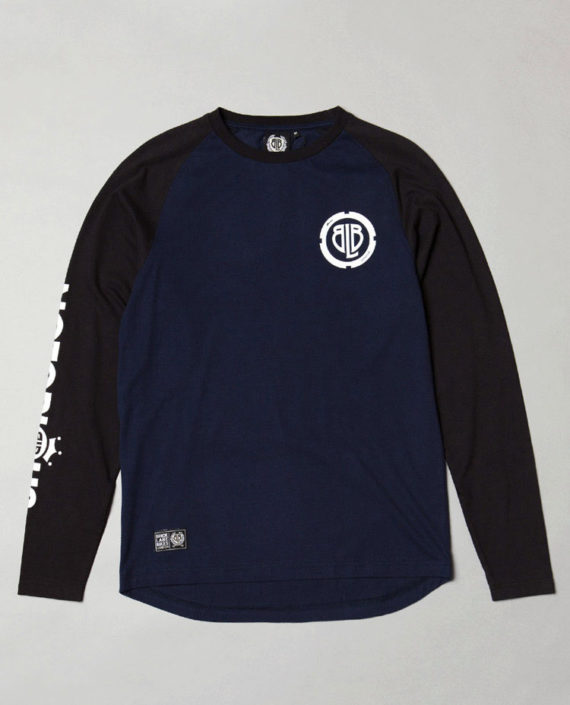 BLB RAGLAN LOCK Long Sleeve Navy/Blck – For Him